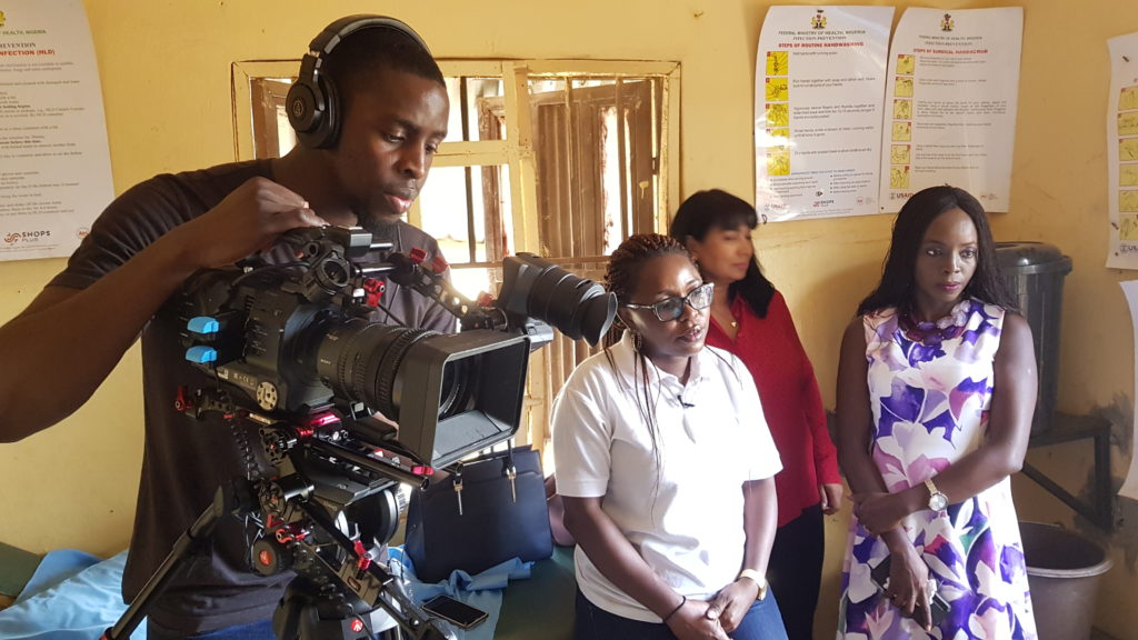 In Abuja, Nigeria filming a documentary about women's health for London School of Hygiene and Tropical Medicine